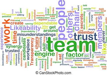 wordcloud, équipe