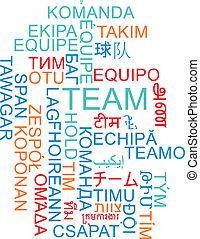 wordcloud, 概念, multilanguage, 背景, チーム