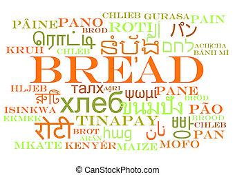 wordcloud, 概念, multilanguage, 背景, bread