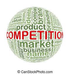 wordcloud, balle, mot, concurrence, étiquettes