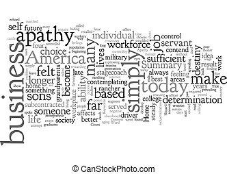 wordcloud, basato, affari, casa, apatia, fondo, testo, concetto, buster