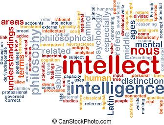 wordcloud, concept, fond, intellect, illustration