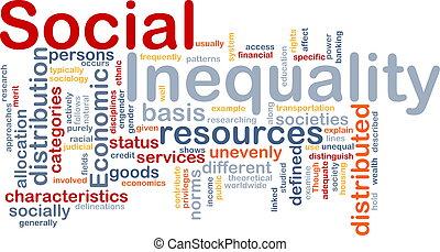 wordcloud, concept, inégalité, illustration, social