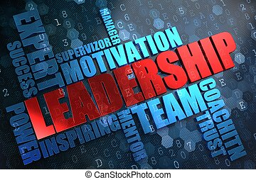 wordcloud, concept., leadership.
