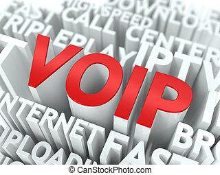 wordcloud, concept., voip.