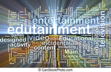 wordcloud, concepto, encendido, ilustración, edutainment