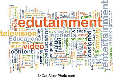 wordcloud, concepto, ilustración, edutainment
