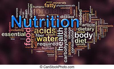 wordcloud, de, nutrição
