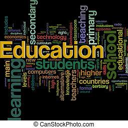 wordcloud, educazione