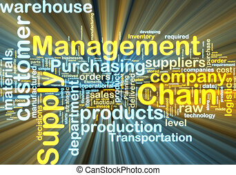 wordcloud, gestion, incandescent, chaîne, fourniture