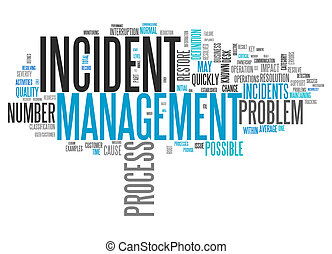 Wordcloud Incident Management - Wordcloud with Incident...