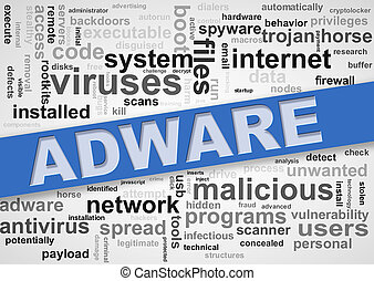wordcloud, malware, adware, étiquettes