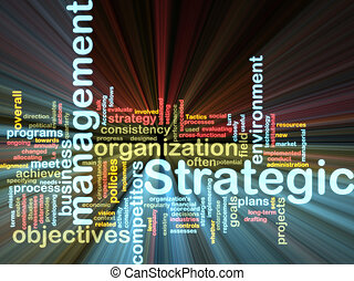 wordcloud, management, gloeiend, strategisch
