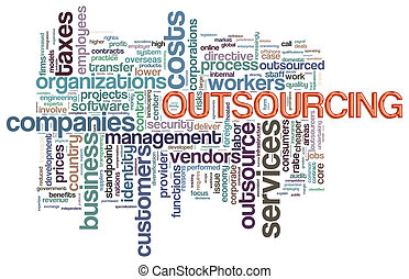 Wordcloud of outsourcing