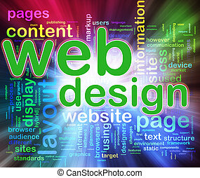 Wordcloud of Web design - Abstract background of words in a ...