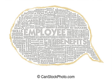 Wordcloud on texture paper speech bubble, Human Resource