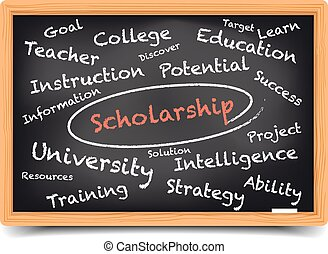 Wordcloud Scholarship - detailed illustration of a ...