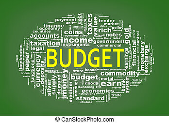 Wordcloud tags of budget