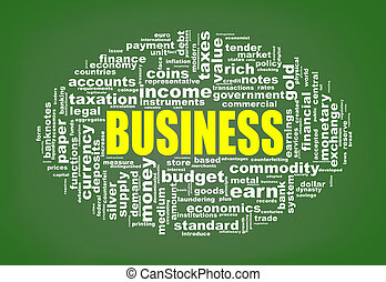 Wordcloud tags of business
