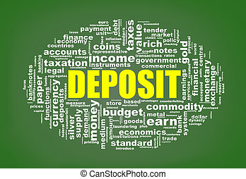 Wordcloud tags of deposit