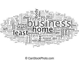 wordcloud, tuo, basato, affari, casa, fondo, testo, equilibrio, concetto