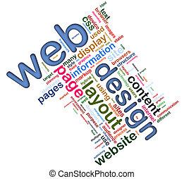 wordcloud, van, web ontwerp