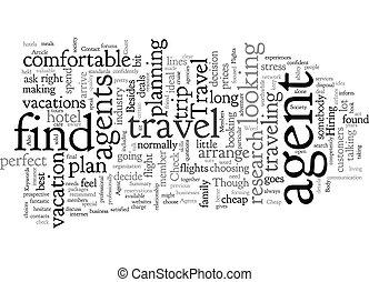 wordcloud, viaje, barato, plano de fondo, texto, concepto, ...