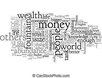 wordcloud, weinig, willen, rijk, zijn, eenvoudig, concept, u, spullen, achtergrond, tekst, indien, most