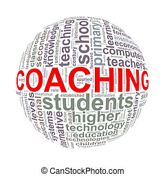 Wordcloud word tags ball of coaching