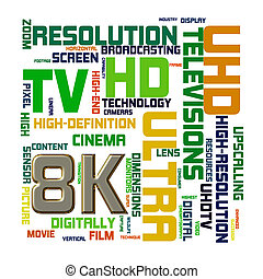 Wordcloud word tags of 8k concept