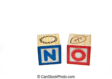 Wording NO from letter blocks