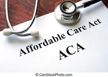 Affordable Care Act ACA - Words Affordable Care Act ACA...