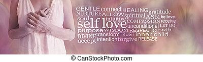 Words Associated with Divine Feminine Self love word cloud