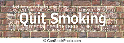Words Associated with quitting smoking word cloud