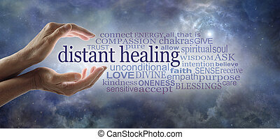 Words associated with Reiki  Healer sending high frequency energy