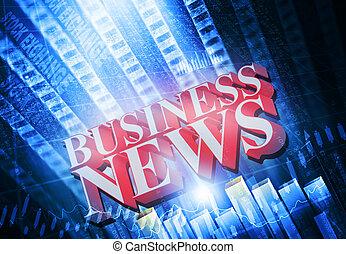 words Business News on digital background