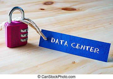 DATA CENTER written on tag label
