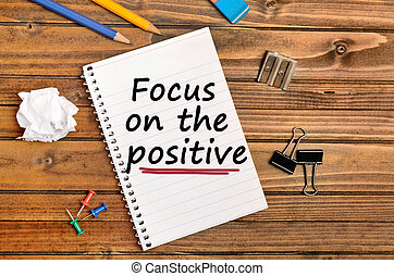Words Focus on the positive