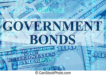 Government bonds - Words Government bonds with the financial...