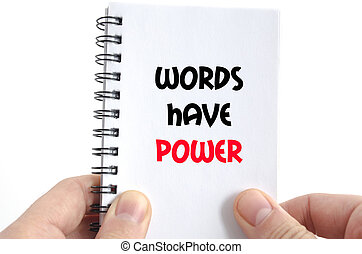 Words have power text concept
