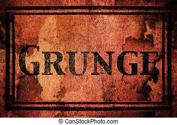 words in Grunge background
