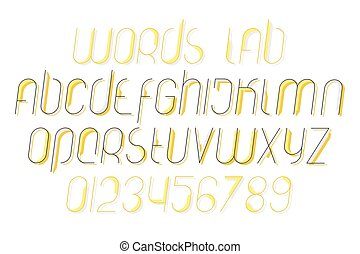 words lab - collection of stylish, isolated alphabet letters...