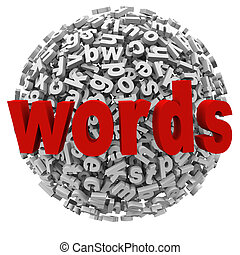 Words Letter Ball Sphere Messages Abstract Word Alphabet