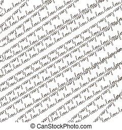 Words - love pattern. EPS 10