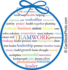 Words teamwork meaning vector icon