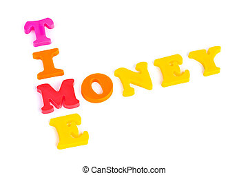 Words Time and Money - business concept