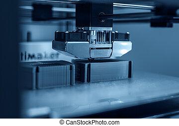 work., 3次元である, プリンター, 電子, printing., テクニカル, プラスチック, 現代, の間, 3d