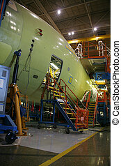 Work Access to Airplane in Production