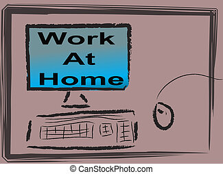 Abstract work at home impression