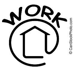 Work at home symbol